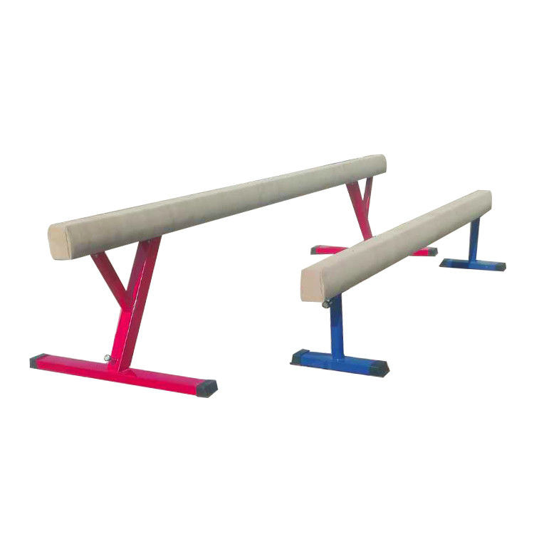 Rust Proof Colorful Kids Gymnastics Beam / Plastic Balance Beam 80-120CM Height
