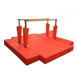 Waterproof Gymnastics Equipment Bars Red Fitness Equipment Steel Material