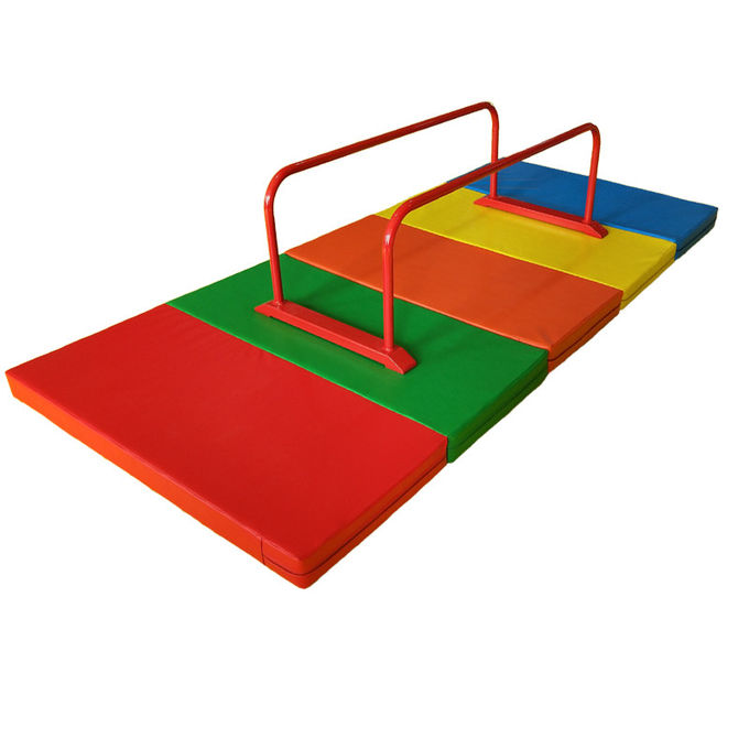 Outdoor Mini Gymnastics Equipment , Metal Parallel Bars Fitness With Mat