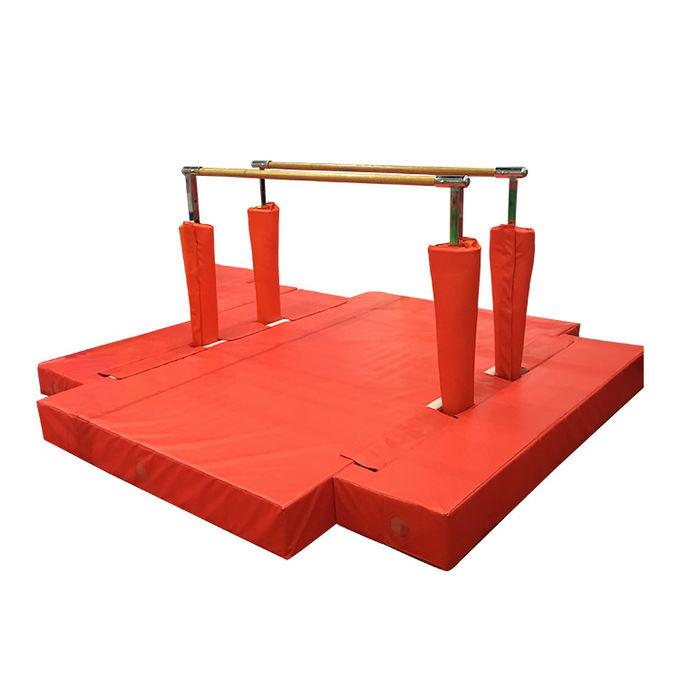 Kids Solid Wooden Parallel Bars Outdoor Playground Sport Fitness Equipment